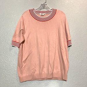 Boden Rachel Knit Pink Tee